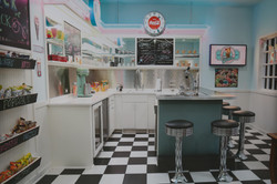 Vintage style icecream shop