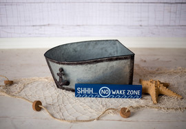 Small galvanized boat