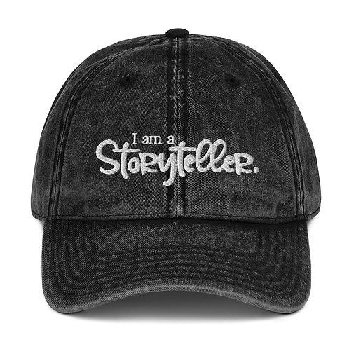 """""""I am a Storyteller"""" Vintage Cotton Twill Cap"""