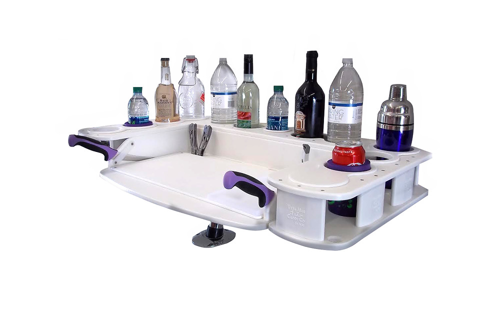 Fishing Caddy for Boats and Land. Compatible for Land and Sea.