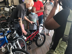 Bicycle Donation to Adopted Families