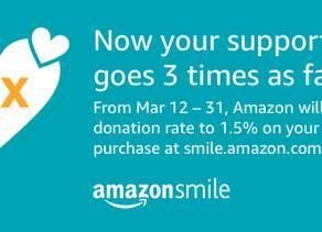 Triple AmazonSmile Donations Promotion