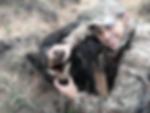 Eric with hog during helicopter hog hunt