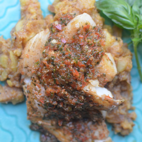 {Dishes: Red Pepper Basil Cod}