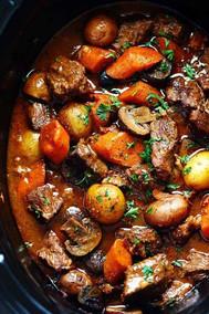 Slow Cooker Beef Bourguinon