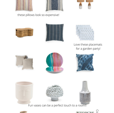 Home Picks on a Budget From T.J Maxx
