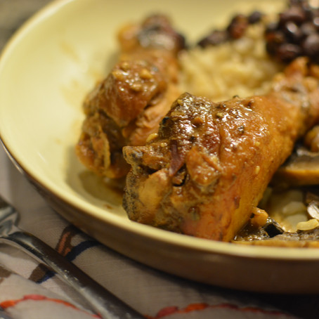 {Dishes: Sweet & Spicy Balsamic Drumsticks}