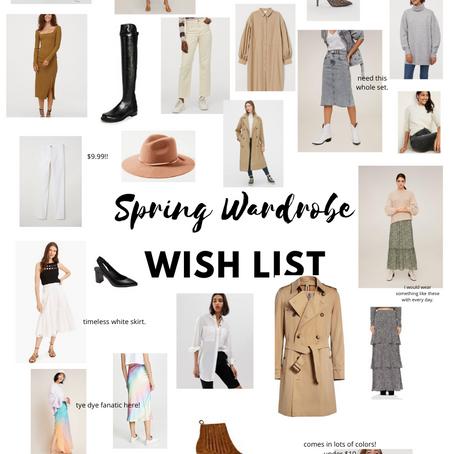 Friday Favorites: Spring Wish List