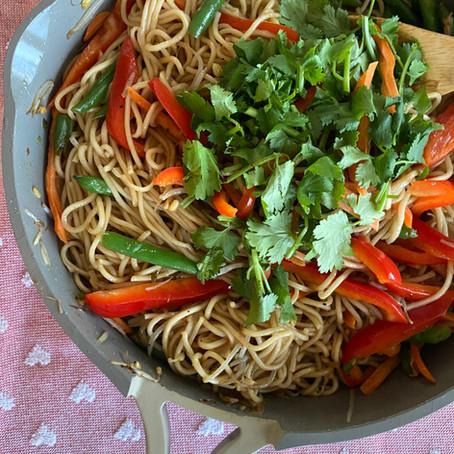 My Family Friendly Veggie Lo Mein