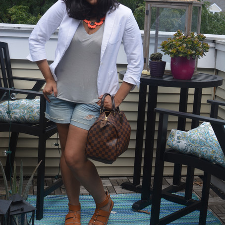 {What I Wore Wednesday: Blazer and BF Shorts on Repeat}