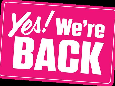 We're Back! Vanaf 9 juni