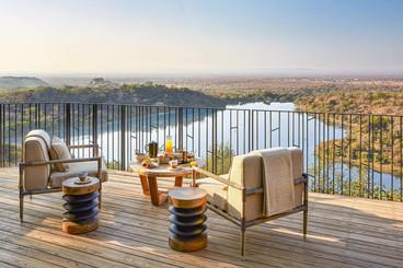 Singita Malilangwe House Deck with a vie
