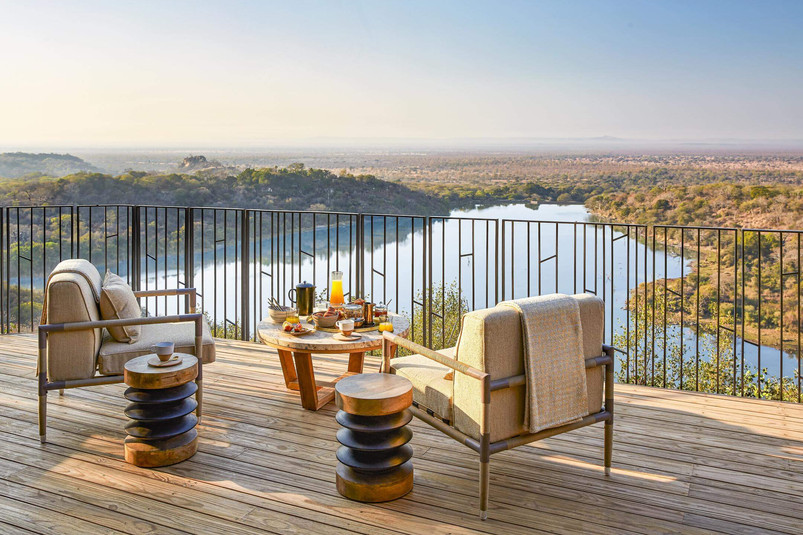 Singita Malilangwe House Deck with a vie