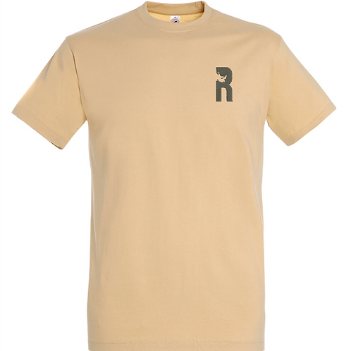 For Rangers T-Shirt withEmbroidered Logo - Sand
