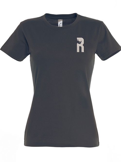 For Rangers Women's Fit T-shirt with Embroidered Logo - Mouse Grey