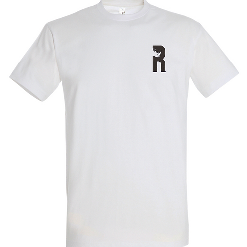 For Rangers T-Shirt withEmbroidered Logo - White