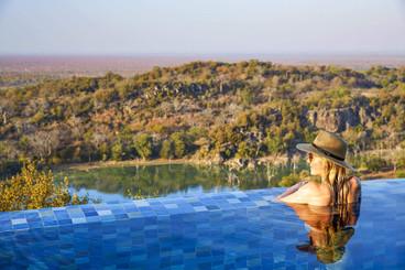 Singita Malilangwe House Villa pool with