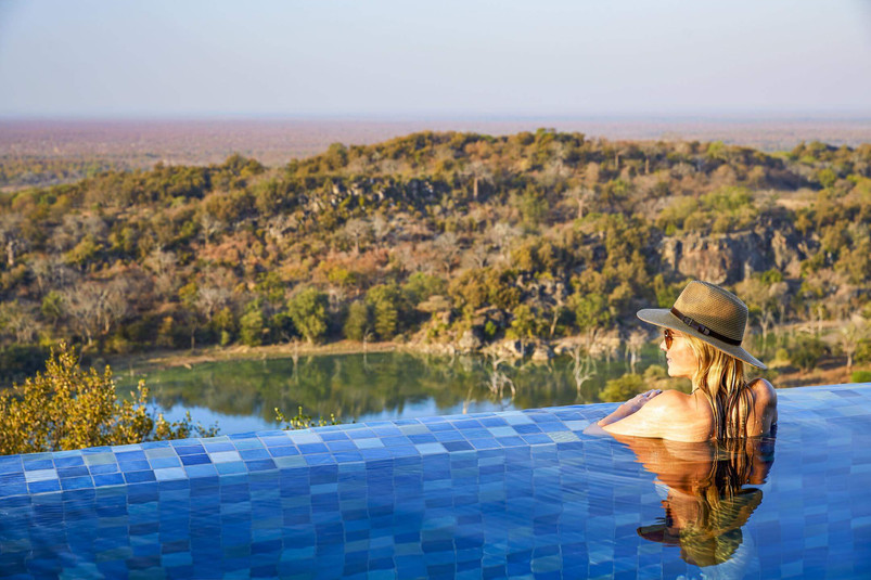 Singita Malilangwe House Villa pool with