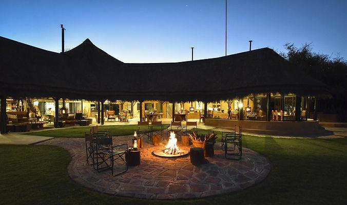 Okonjima Luxury Bush Camp Evening Fire P