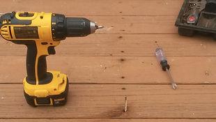 Screws Maintain Deck Restoration