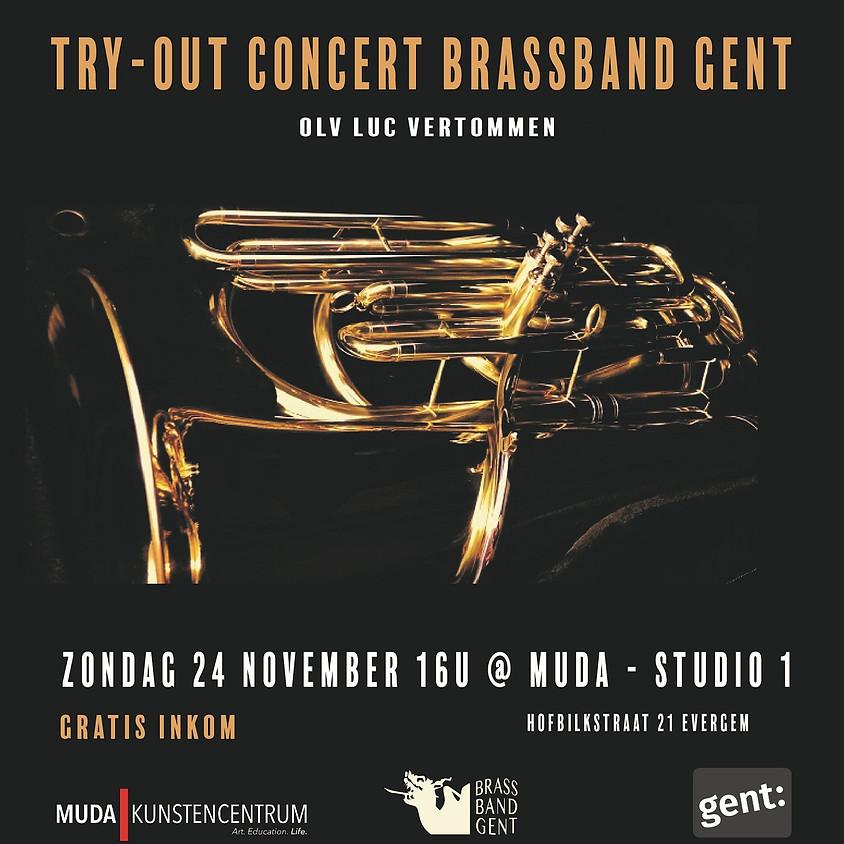 Gratis try-out concert Brassband Gent