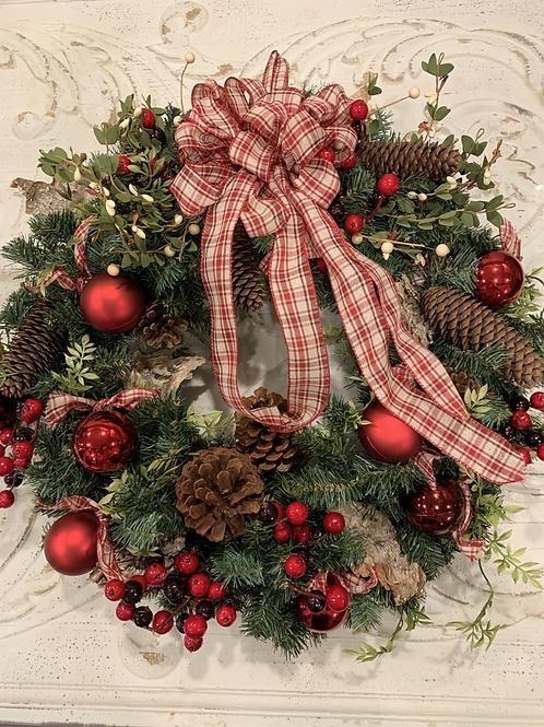 Evergreen Plaid Christmas Wreath
