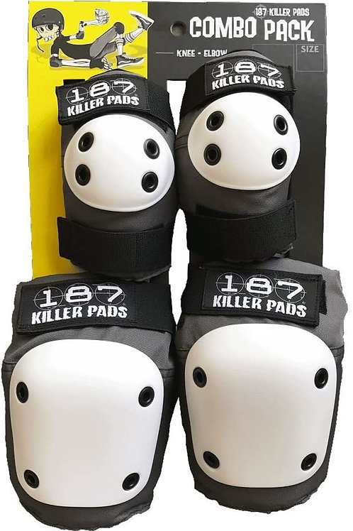 187 Killer Pads - Combo Pack - Grey/White