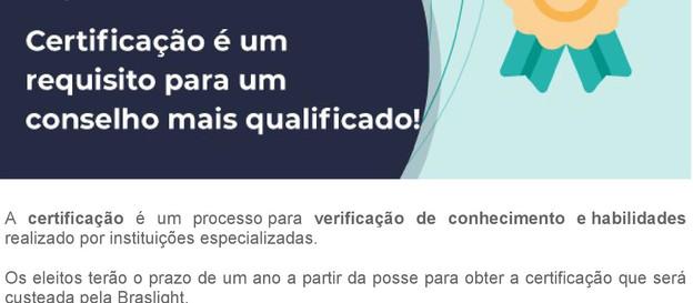 Eleições 2019 - Certificação é um requisito para um conselho mais qualificado!