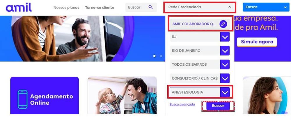 Como encontrar médicos anestesiologistas no site da AMIL