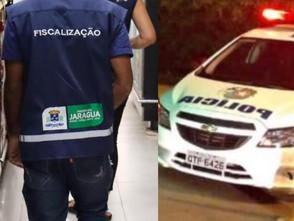 Fiscais da Prefeitura de Jaraguá e a PM encerram festa com aglomeração no Setor Oeste