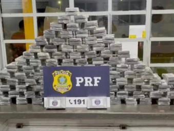Pai e filho são presos com cocaína avaliada em R$ 40 milhões em Jaraguá