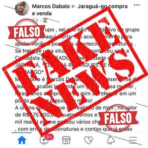 Candidata a vereadora em Jaraguá Claudia Godói, vítima de Fake News vai à justiça