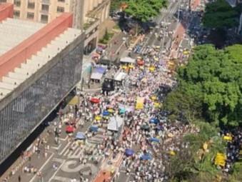 Protesto contra Bolsonaro organizado pela 3ª Via é um fisco de público em todo Brasil