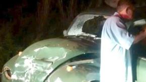 Acidente na BR-153, próximo à Jaraguá, deixa uma pessoa gravemente ferida