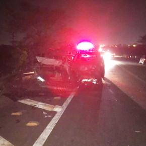 Condutor bate carro na GO-080 em Jaraguá ao se desviar de cavaleiros