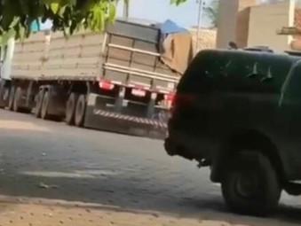 Policia Militar apreende R$ 600 mil em madeira ilegal, em Rubiataba