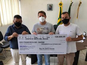 Bruno Peixoto entrega emenda de 120 mil ao Prefeito de São Francisco Cleuton Timbó