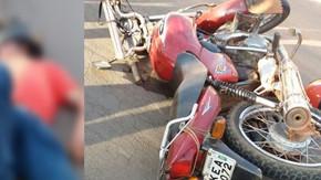 Acidente entre dois motociclistas na Vila São José deixa uma vítima em estado grave