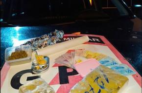 Operação do GPT de Jaraguá apreende drogas e dinheiro após denúncia de briga