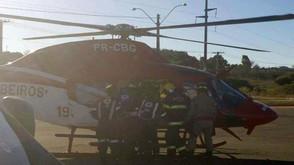 Piloto de parapente que sofreu acidente em Jaraguá segue internado no Hospital de Urgências