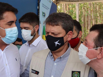 Ministro Tarcísio de Freitas diz que obras na BR-153 começam na próxima semana