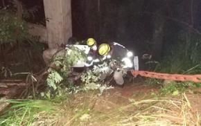 Acidente na BR-153 deixa uma vítima fatal e duas feridas, em Nova Glória
