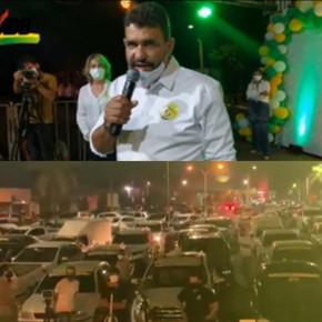 Avimar Teodoro abre campanha de rua em Jaraguá com comício drive-in