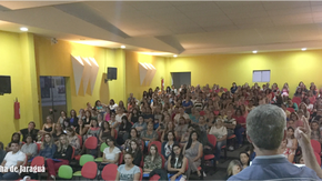 Prefeito Zilomar e vice Simone participam da abertura da Semana Pedagógica