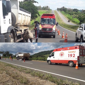 Funcionário morre na GO-080 atropelado por caminhão da empresa que trabalhava
