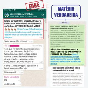 Coordenação de campanha tentou articular Fake News contra a Folha de Jaraguá