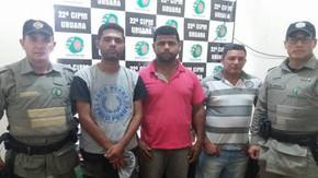 Polícia Militar de Uruana (GO) prende três homens suspeitos de estelionato