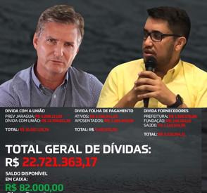 Gestão de Paulo Vitor apresenta 22 milhões de dívidas deixados por Zilomar Oliveira
