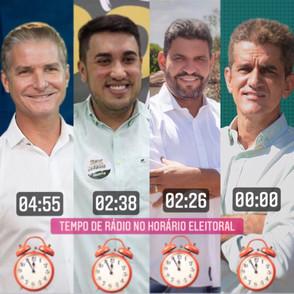 Veja o tempo no horário eleitoral de cada candidato a prefeito de Jaraguá