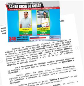 Em liminar justiça impugna Pesquisa IPOP em Santa Rosa de Goiás